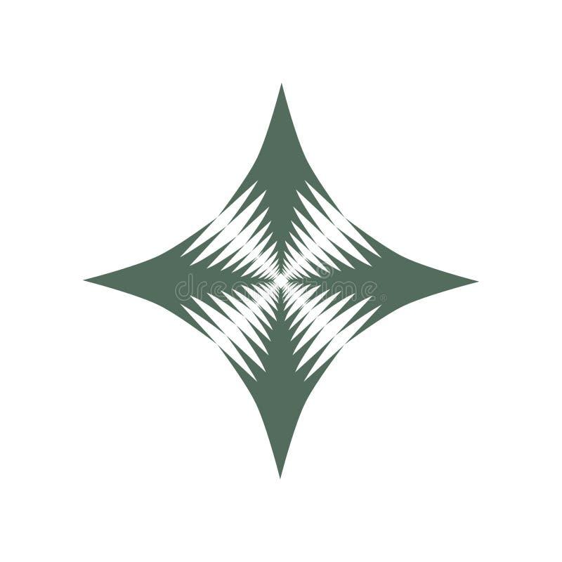 Ένα ενιαίο αστέρι διαμαντιών διακοσμητικό σε δύο τόνους διανυσματική απεικόνιση