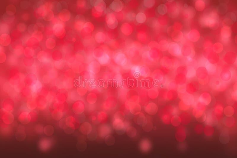 Ένα εορταστικό αφηρημένο κόκκινο υπόβαθρο σύστασης καλής χρονιάς ή Χριστουγέννων και με το χρώμα θόλωσε bokeh τα φω'τα Διάστημα γ στοκ φωτογραφία