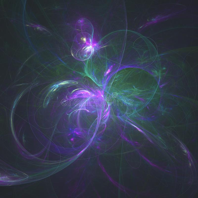 Ένα λεπτό Explination της σπείρας Fibbonocci της ζωής που παράγεται από τις συμπληρωματικές συχνότητες της ζωής | Fractal τέχνη στοκ φωτογραφίες