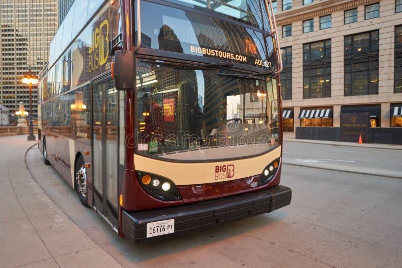 Ένα λεωφορείο στο Σικάγο στοκ φωτογραφίες με δικαίωμα ελεύθερης χρήσης