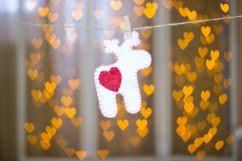 Ένα ελάφι φιαγμένο από αισθητός στοκ φωτογραφία με δικαίωμα ελεύθερης χρήσης