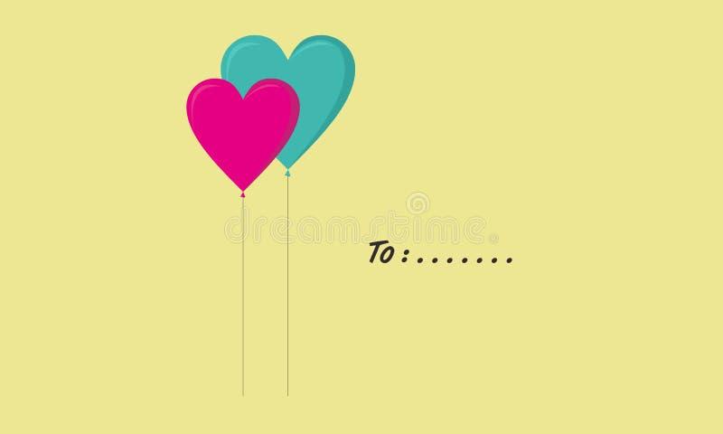 Ένα ζευγάρι των μπαλονιών αγάπης ελεύθερη απεικόνιση δικαιώματος