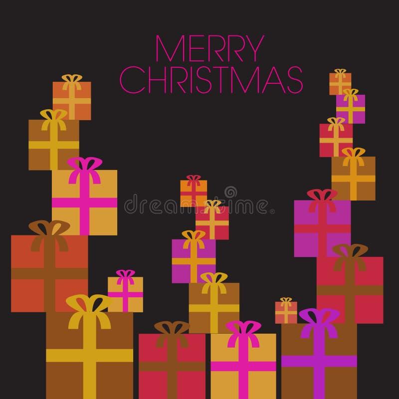 Ένα ζωηρόχρωμο ιδιότροπο υπόβαθρο Χριστουγέννων απεικόνιση αποθεμάτων