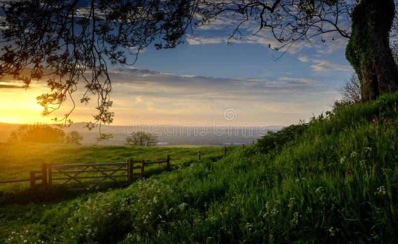 Ένα ηλιοβασίλεμα Cotswold στοκ φωτογραφία με δικαίωμα ελεύθερης χρήσης