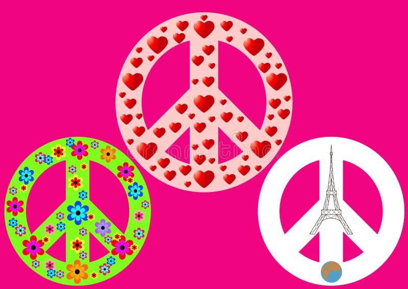 Ένα διεθνές σύμβολο της ειρήνης, αφοπλισμός, αντιπολεμική μετακίνηση απεικόνιση αποθεμάτων