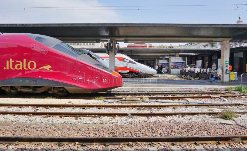 Ένα ιταλικό τραίνο υψηλής ταχύτητας στο σταθμό της Βενετίας στοκ εικόνες με δικαίωμα ελεύθερης χρήσης