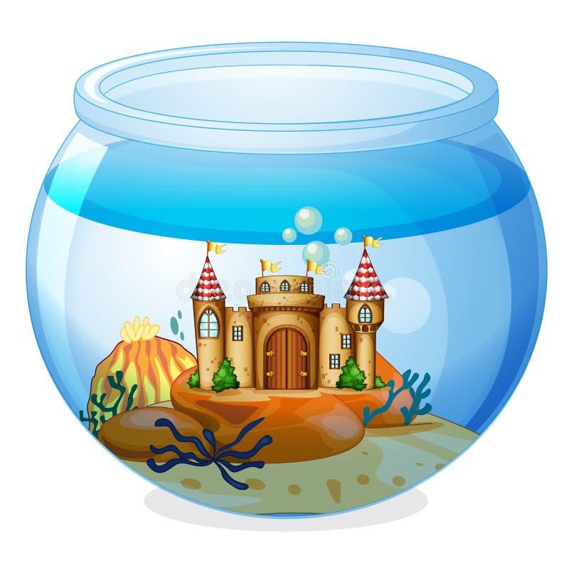 Ένα κάστρο μέσα στο ενυδρείο απεικόνιση αποθεμάτων