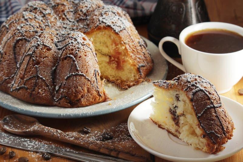 Ένα κέικ μπισκότων με τη σοκολάτα στοκ εικόνες με δικαίωμα ελεύθερης χρήσης