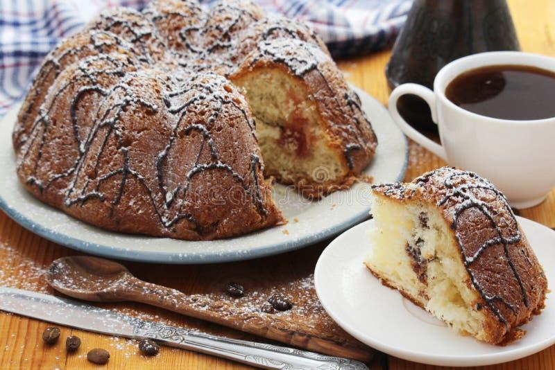 Ένα κέικ μπισκότων με τη σοκολάτα στοκ εικόνες