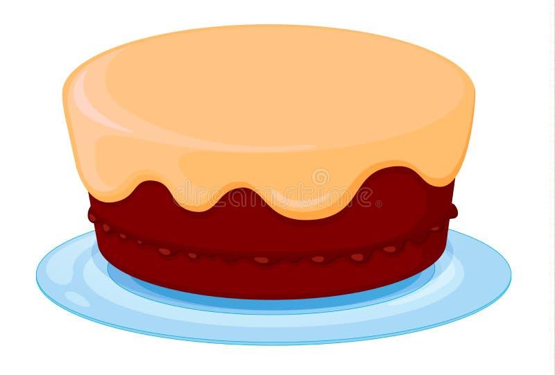 Ένα κέικ ελεύθερη απεικόνιση δικαιώματος