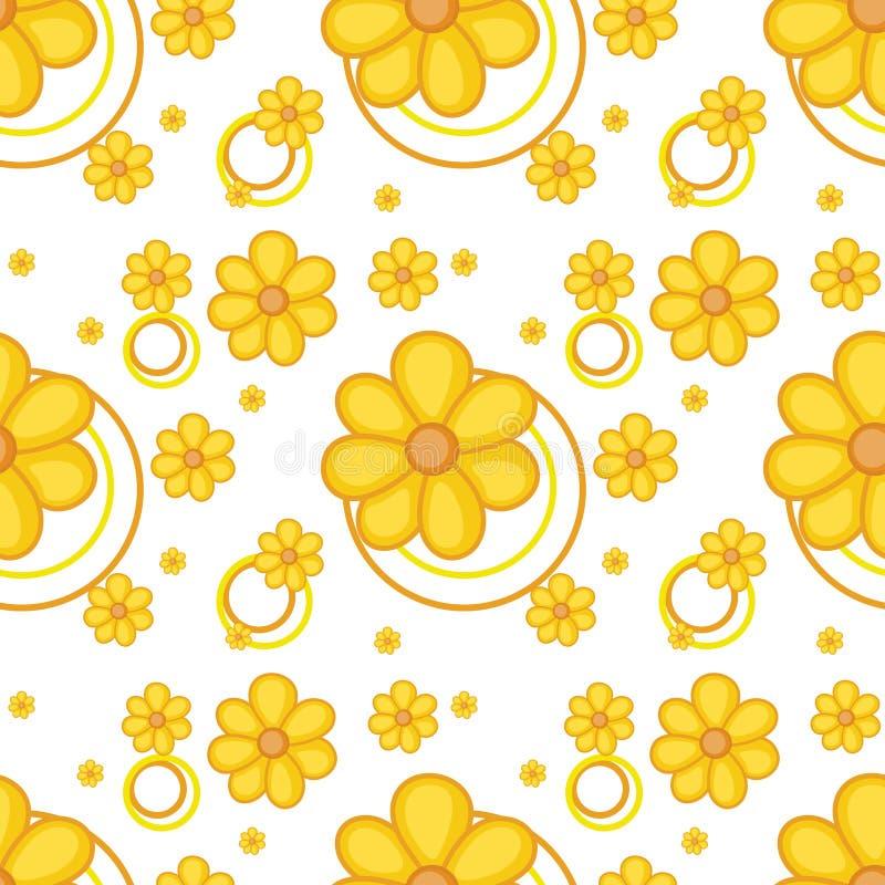 Ένα κίτρινο flowery σχέδιο διανυσματική απεικόνιση