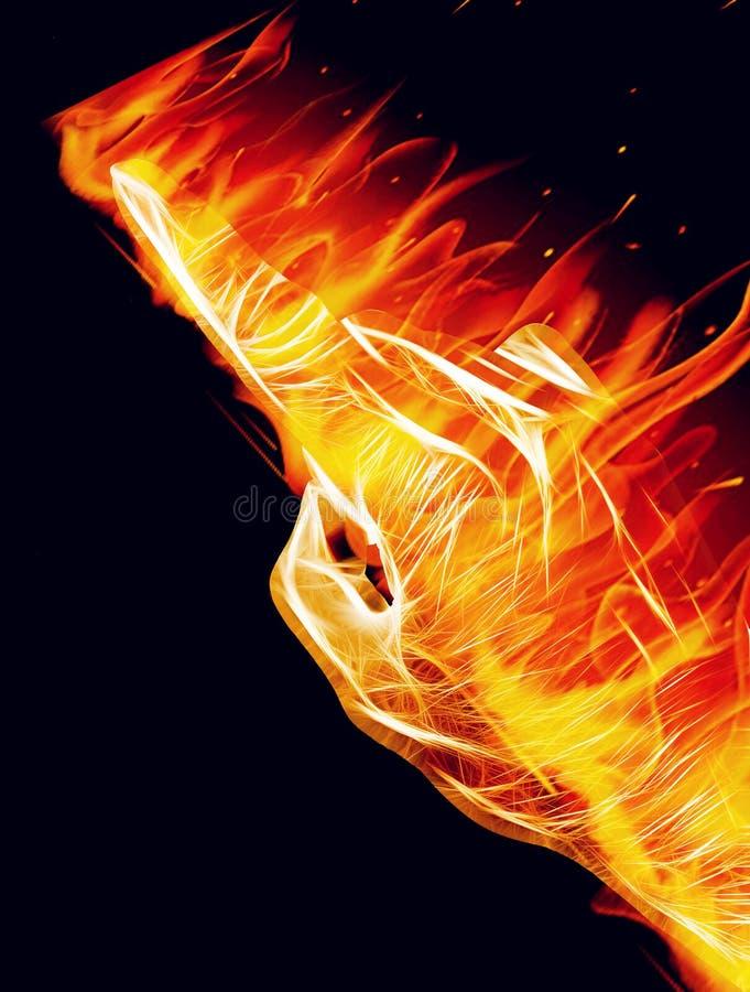 Download Ένα καίγοντας χέρι στοκ εικόνα. εικόνα από υπάρξοντας - 62719483
