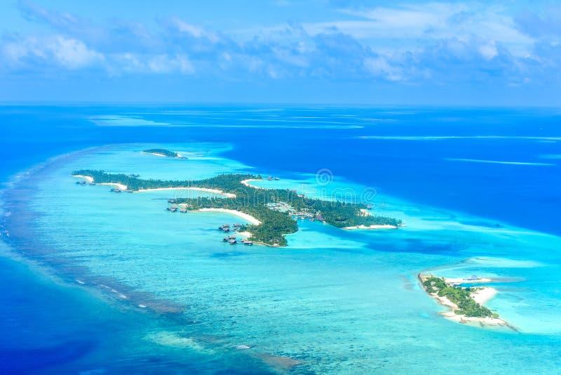 Ένα και μόνο θέρετρο νησιών Reethi Rah Μαλδίβες στοκ εικόνα