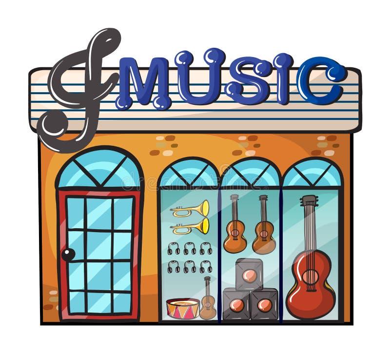 Ένα κατάστημα μουσικής διανυσματική απεικόνιση