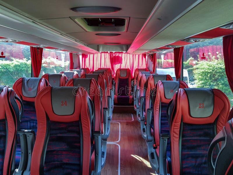 Ένα κενό λεωφορείο τουριστών στοκ φωτογραφία