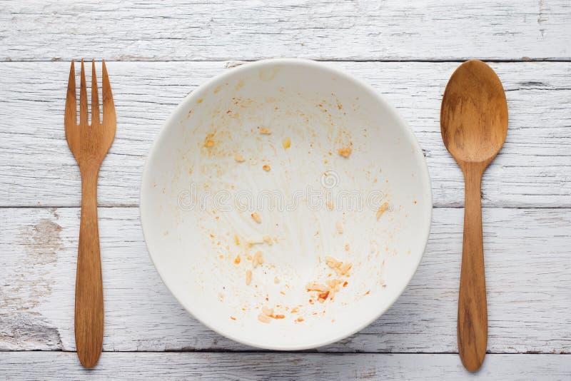 Ένα κενό πιάτο στοκ εικόνα