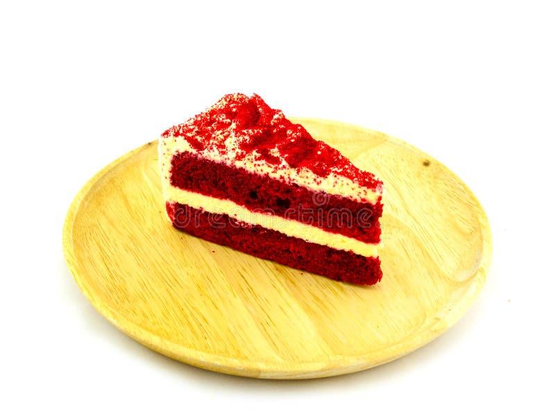 Ένα κομμάτι του κόκκινου κέικ βελούδου στοκ φωτογραφίες με δικαίωμα ελεύθερης χρήσης