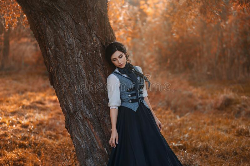 Ένα κορίτσι σε ένα εκλεκτής ποιότητας φόρεμα στοκ εικόνες με δικαίωμα ελεύθερης χρήσης