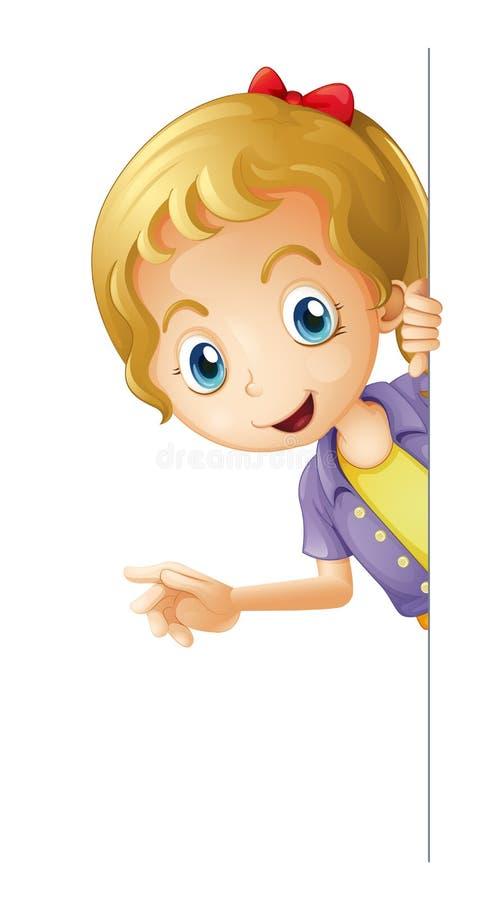 Ένα κορίτσι διανυσματική απεικόνιση