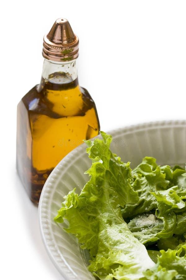 Ένα κύπελλο της πράσινης σαλάτας στοκ εικόνα με δικαίωμα ελεύθερης χρήσης