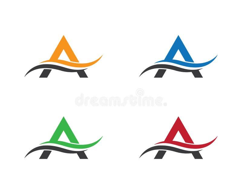 Ένα λογότυπο επιστολών διανυσματική απεικόνιση
