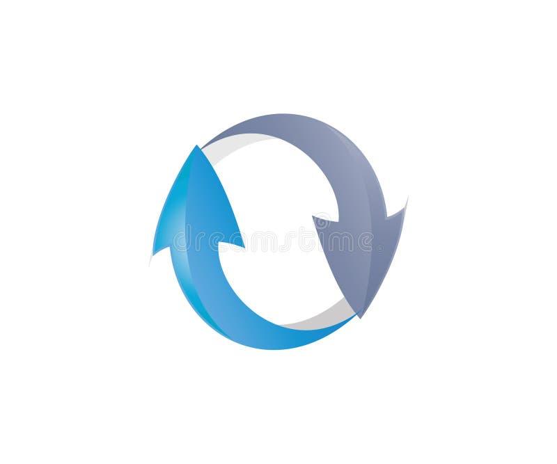 Ένα λογότυπο του βέλους yin yang απεικόνιση αποθεμάτων