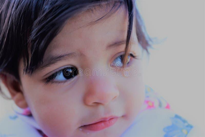 Ένα λυπημένο πορτρέτο για το κορίτσι κόλπων στοκ εικόνα
