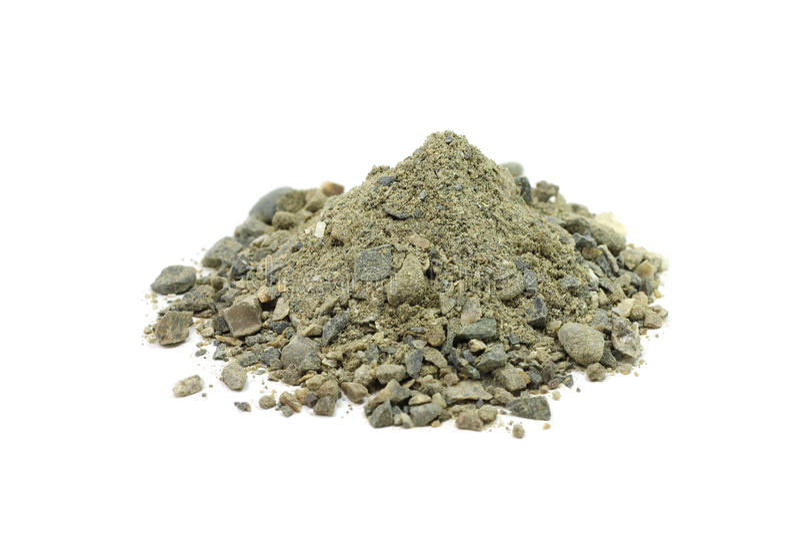 Ένα μίγμα άμμου, αργίλου και αμμοχάλικου στοκ εικόνα
