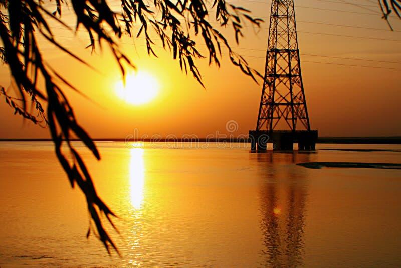 Ένα μακροχρόνιο ηλιοβασίλεμα στοκ εικόνες