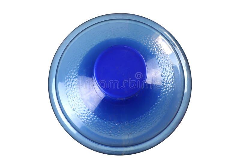 Ένα μεγάλο μπουκάλι του καθαρού νερού, μεγάλο μπουκάλι του πόσιμου νερού που απομονώνεται στο μαύρο υπόβαθρο στοκ εικόνες