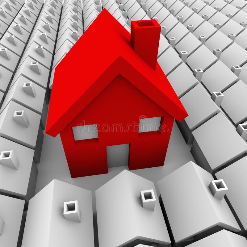 Ένα μεγάλο σπίτι πολλοί μικρή μεγαλύτερη επιλογή σπιτιών ελεύθερη απεικόνιση δικαιώματος