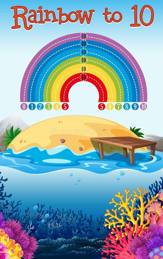 Ένα μετρώντας πρότυπο παιχνιδιών αριθμού math ελεύθερη απεικόνιση δικαιώματος