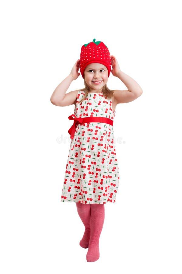 Ένα μικρό κορίτσι σε μια πλεκτή beanie ΚΑΠ στοκ φωτογραφία με δικαίωμα ελεύθερης χρήσης