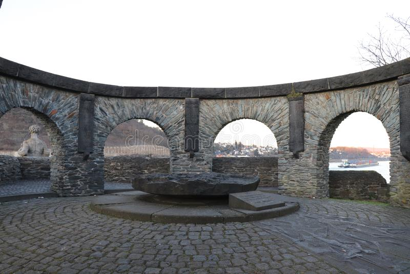 Ένα μνημείο σε Andernach, Γερμανία στοκ εικόνα με δικαίωμα ελεύθερης χρήσης