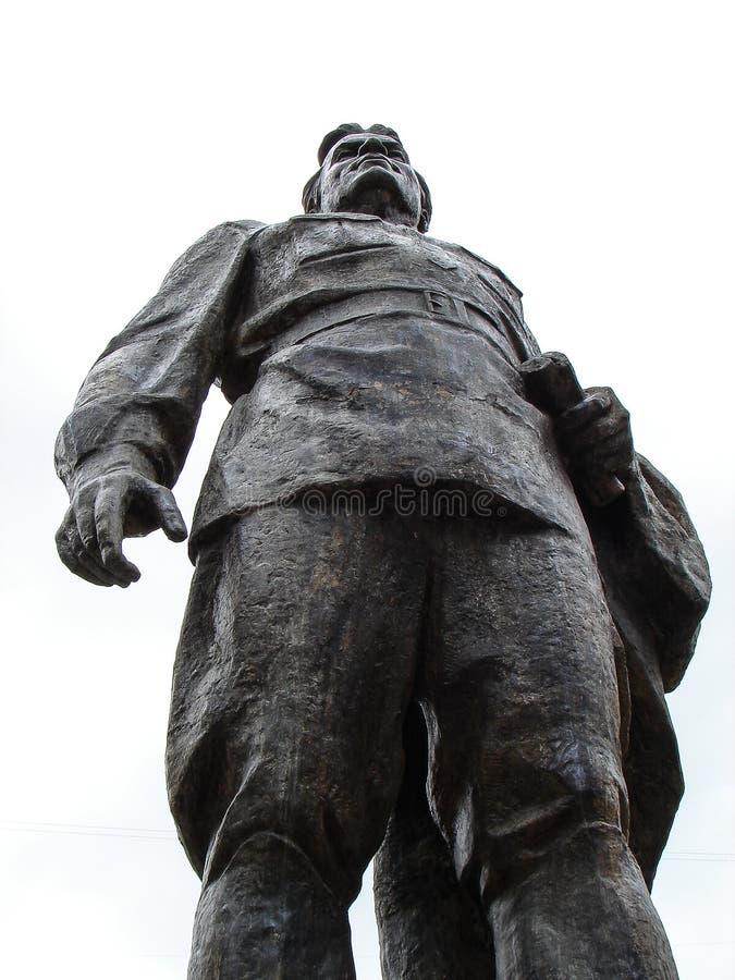 Ένα μνημείο σε Sergei Kirov στη ρωσική πόλη Kaluga στοκ εικόνα