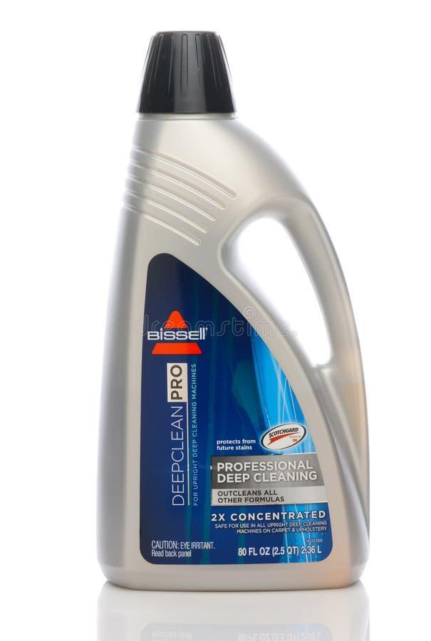 Ένα μπουκάλι λύσης καθαρισμού ταπήτων Bissell της βαθιά καθαρής υπέρ στοκ εικόνα