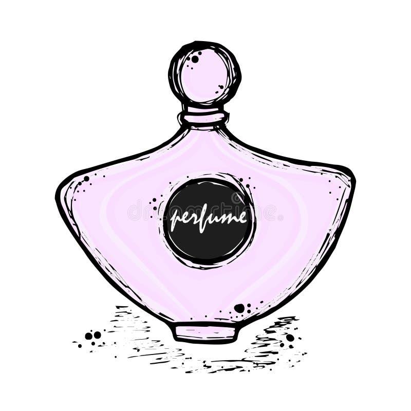 Ένα μπουκάλι του αρώματος για τα κορίτσια, γυναίκες Μόδα και ομορφιά, τάση, άρωμα ελεύθερη απεικόνιση δικαιώματος