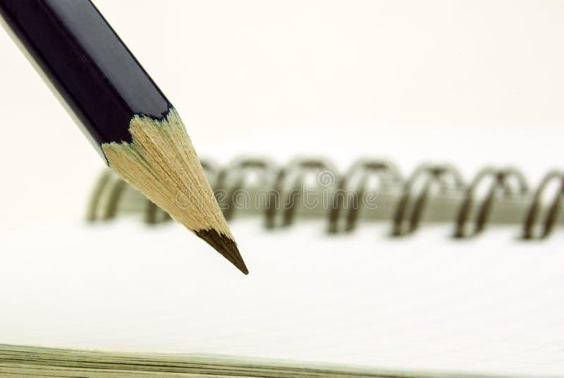 Ένα μπλε μολύβι στοκ εικόνα