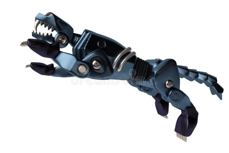 Ένα μπλε puma μηχανών απεικόνιση αποθεμάτων