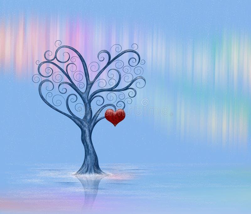 Ένα μόνο δέντρο με μια καρδιά απεικόνιση αποθεμάτων