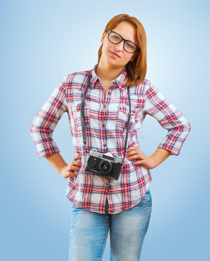 Ένα νέο hipstergirl στοκ εικόνες