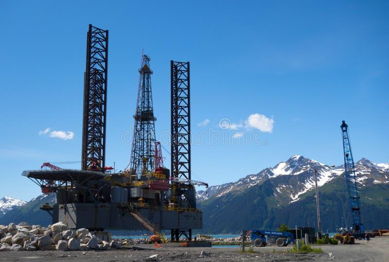 Ένα ναυπηγείο στην Αλάσκα στοκ εικόνες