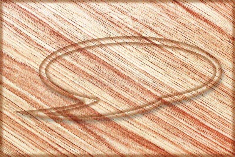ένα να κουβεντιάσει φυσαλίδων σημάδι στον ξύλινο πίνακα στοκ φωτογραφίες με δικαίωμα ελεύθερης χρήσης