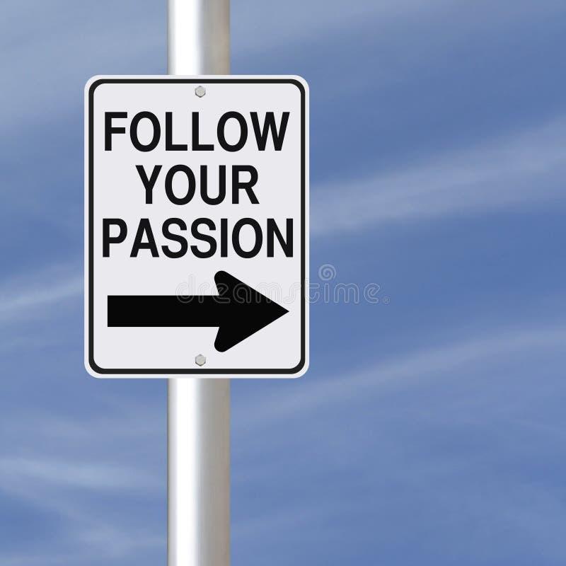 Ακολουθήστε το πάθος σας στοκ εικόνα με δικαίωμα ελεύθερης χρήσης