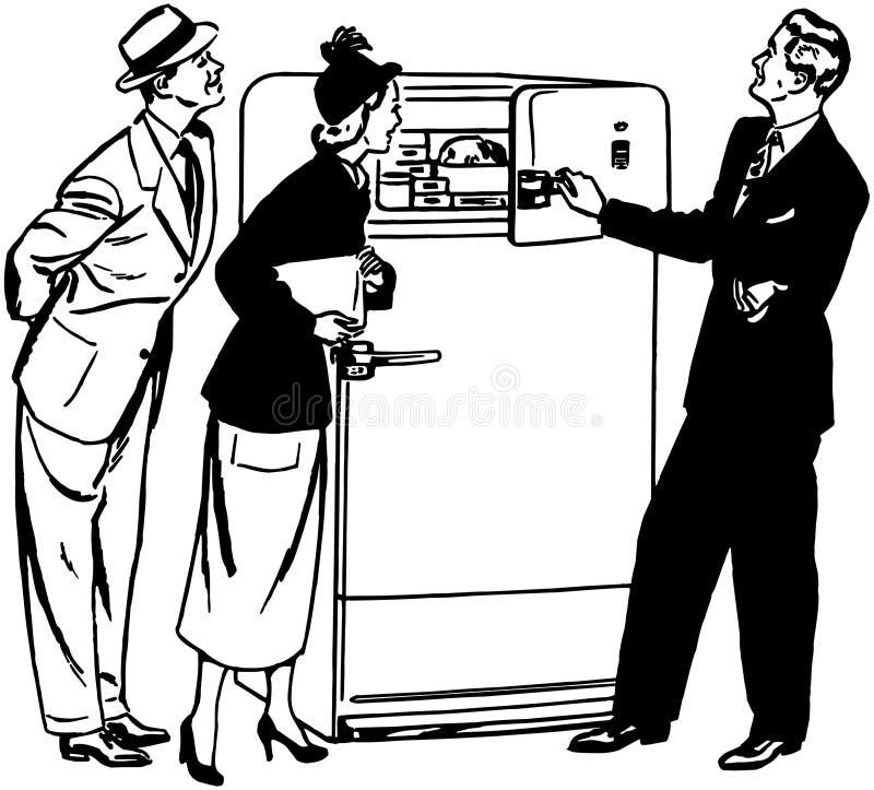 Ένα ολοκαίνουργιο ψυγείο διανυσματική απεικόνιση