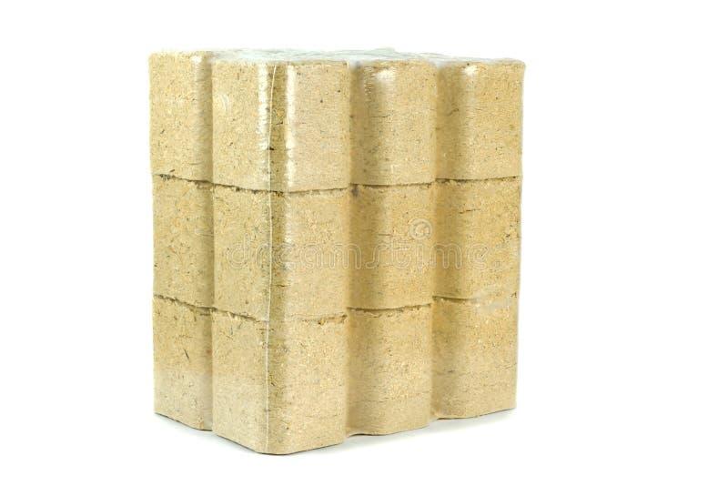 Ένα πακέτο των ξύλινων ανθρακόπλινθων στοκ φωτογραφία με δικαίωμα ελεύθερης χρήσης