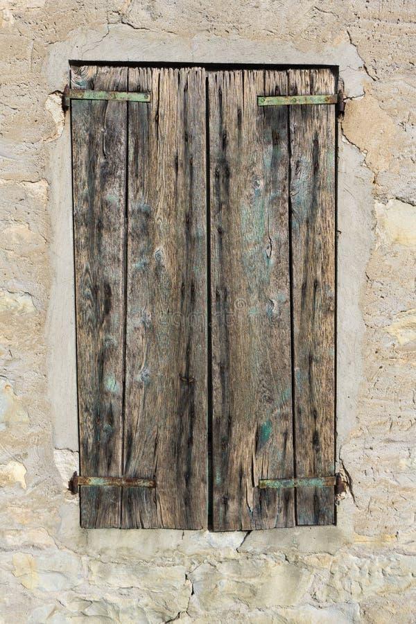 Ένα παλαιό παράθυρο κλειστό στοκ εικόνες