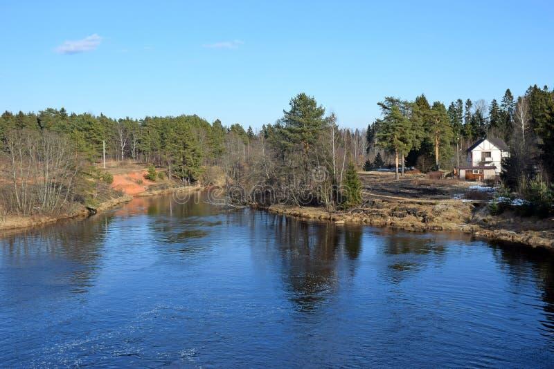 Ένα πανόραμα του ποταμού Oredezh στοκ φωτογραφία με δικαίωμα ελεύθερης χρήσης