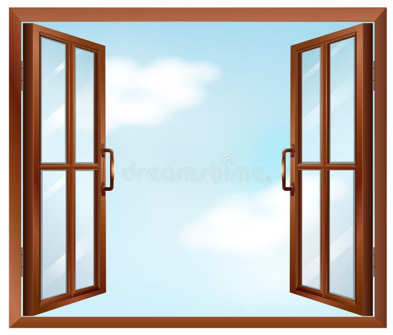 Ένα παράθυρο σπιτιών ελεύθερη απεικόνιση δικαιώματος