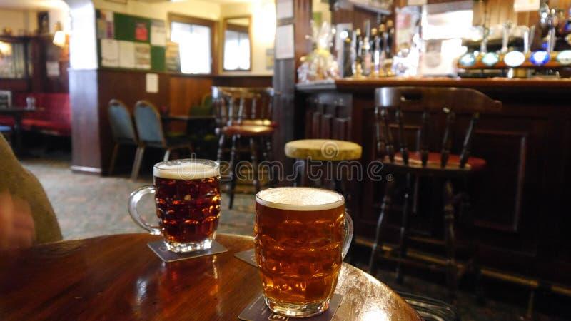 Ένα παραδοσιακό αγγλικό μπαρ στοκ εικόνες